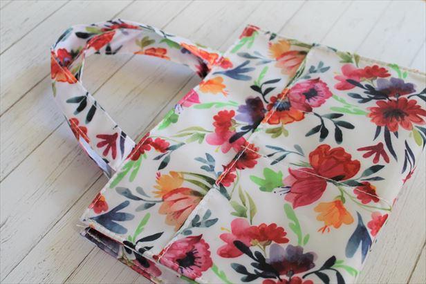 ヒフミドトライアルセットの花柄トートバッグ